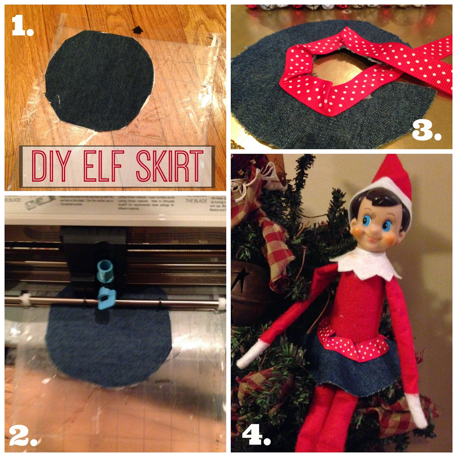 Elf on the shelf, clothes, Silhouette tutorial, Silhouette Studio, free cut files, DIY, do it yourself