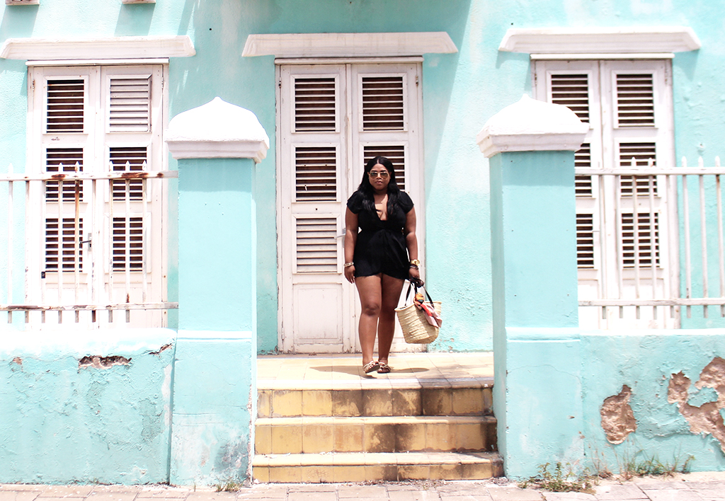 shana, alcott, rayban, wrap dress, walmast, mango, curacao, black girl magic, blogger, fashion blogger, how to style, black blogger, pietermaai