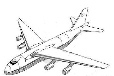 Planse De Colorat Cu Avioane Pentru Copiii De Gradinita