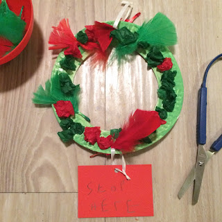 Stop Here Santa Christmas Wreath Kids Craft