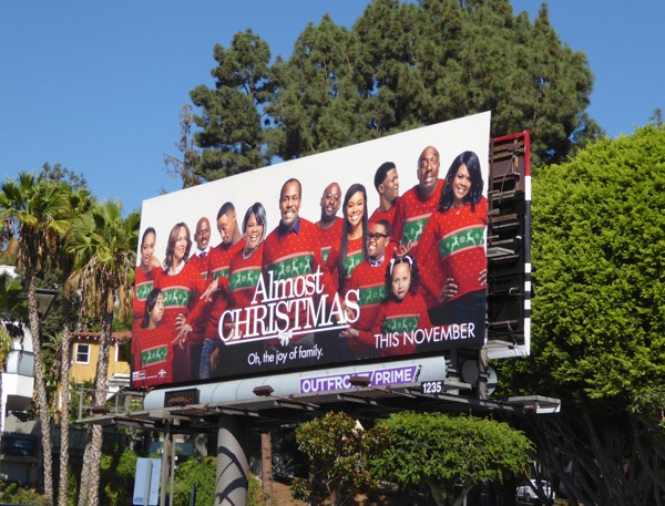 Almost Christmas movie billboard