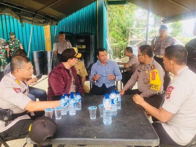 Bersama Wakapolda, Wabup Diskusi dengan Kapolres dan Dandim Kerinci Tangani Kejadian