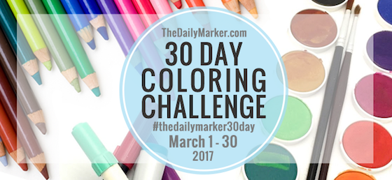 The Daily Marker 30 Day Coloring Challenge, Kathy Racossin