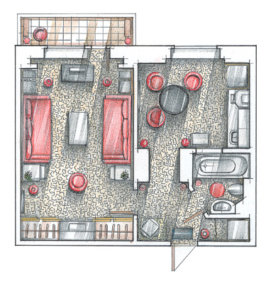 дизайн проект квартиры 36 кв м 5