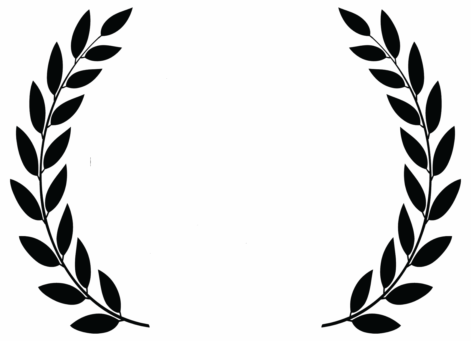 Award leaves png images galleries for Laurel leaf crown template