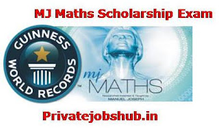 MJ Maths Scholarship Exam
