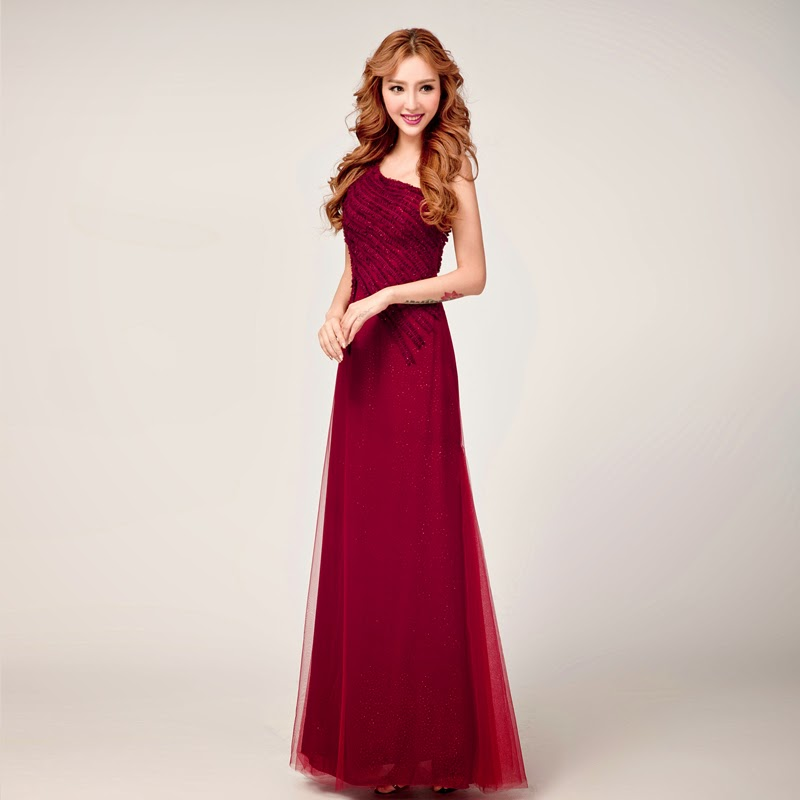 Wedding Gown Malaysia: Sweet One Shoulder Dinner Dress :: My Gown Dress