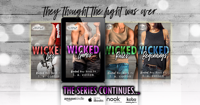 WICKED GAMES by LA Cotton @authorlacotton #NewRelease #Review #TheUnratedBookshelf