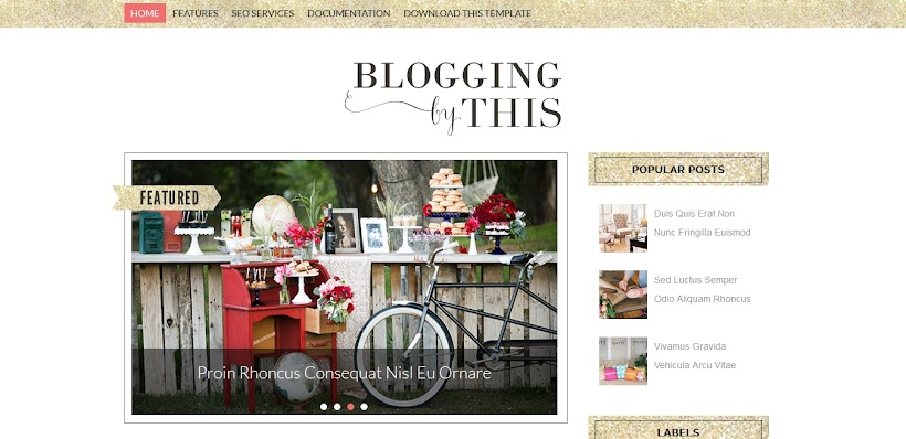 Blogging Free Blogger Template