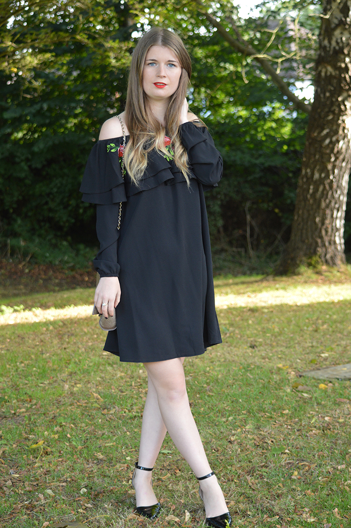 new look off the shoulder dress fashion bloggers