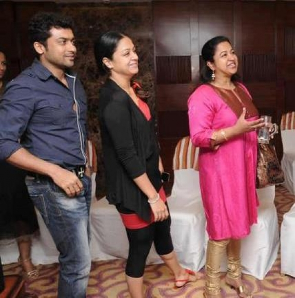 Actor Surya And Jyothika Latest Family Pictures