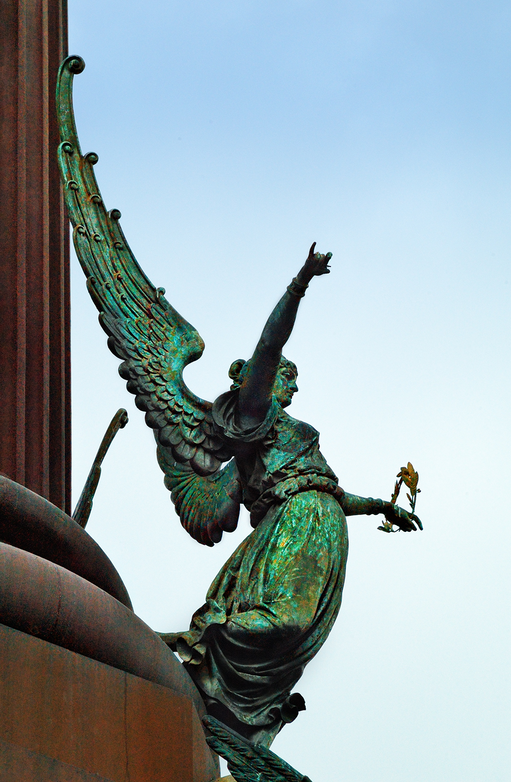 Winged Fame Sculpture at Columbus Monument