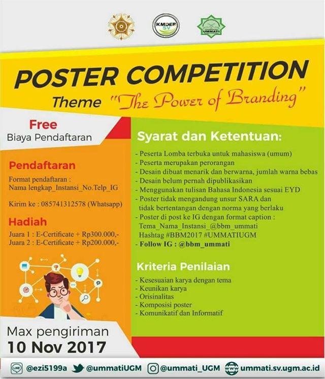 Lomba Poster Competition Gratis Untuk Mahasiswa