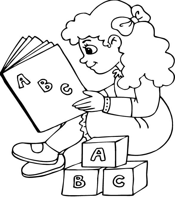 Baú da Web: Desenhos dia do livro para colorir