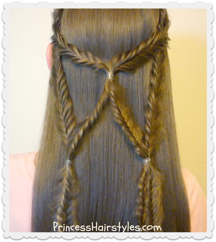 Angel Wings Fishtail Braid Tie Back Hairstyle Hairstyles For Girls Princess Hairstyles