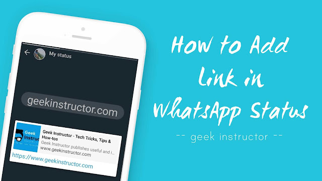 Add links in WhatsApp status