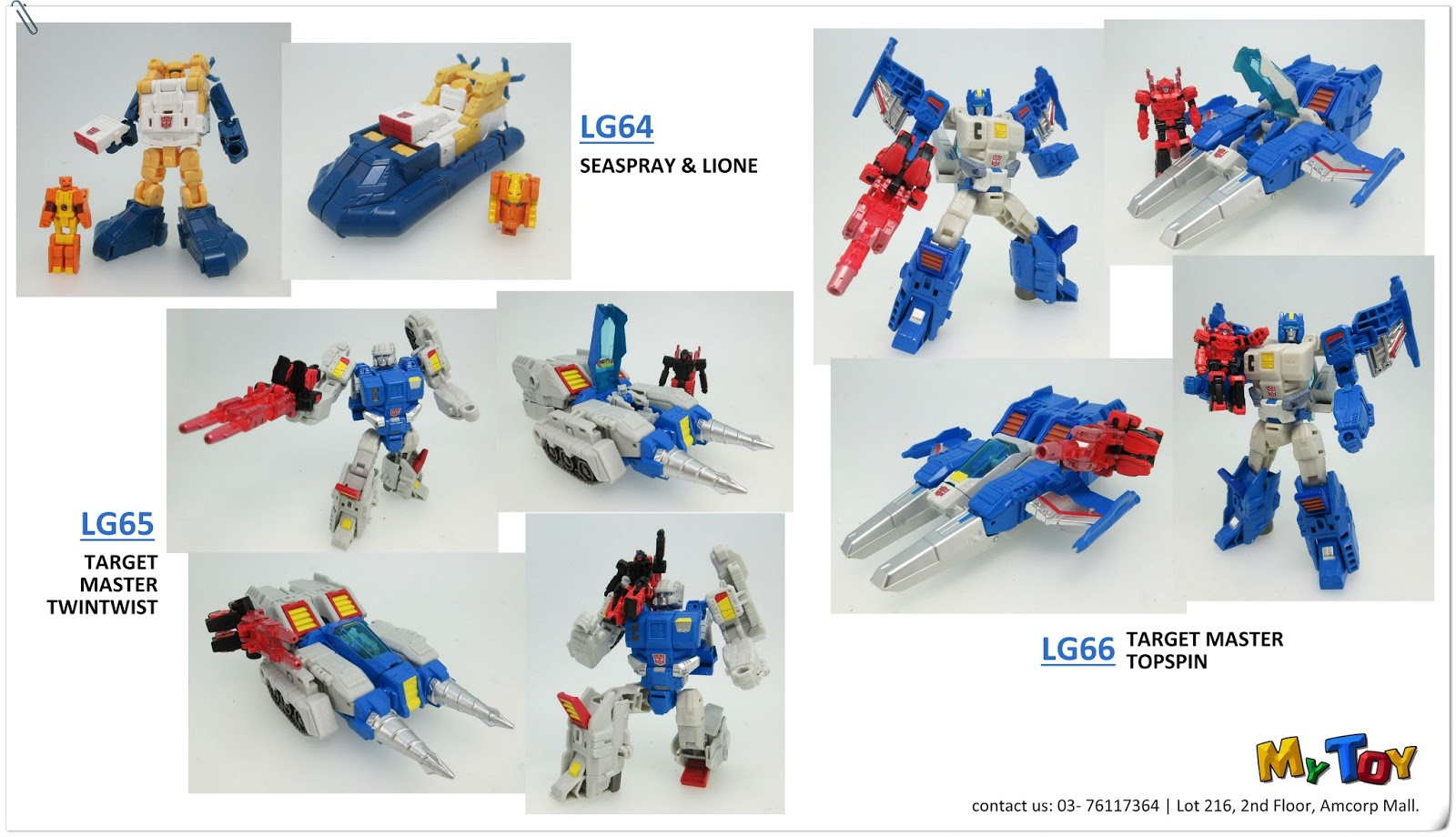 mytoy  pre order  takara tomy transformers legends series lg64 seaspray lione   lg65 target LEGO Transformers Prime Transformers Instruction Manual
