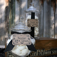 This Apothecary Jar is packed full of Sugar Cube Skulls will set the mood for any occasion