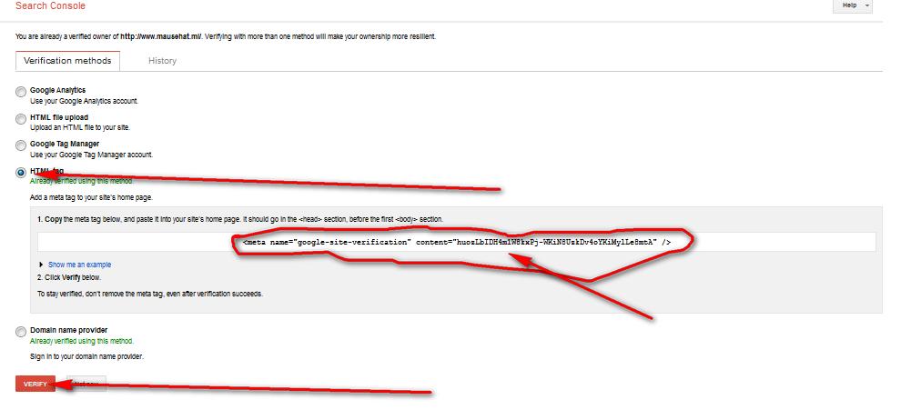Mendaftarkan Blog Dan Verifikasi Di Google Webmaster Tool