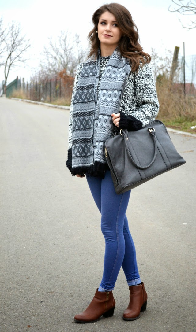 autumn winter chunky jumper outfit ideas