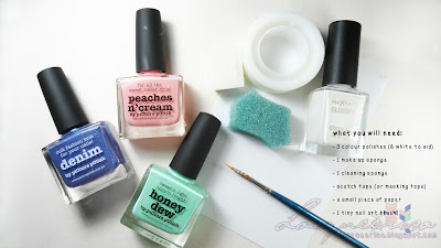 What you will need. materials used for this nail art