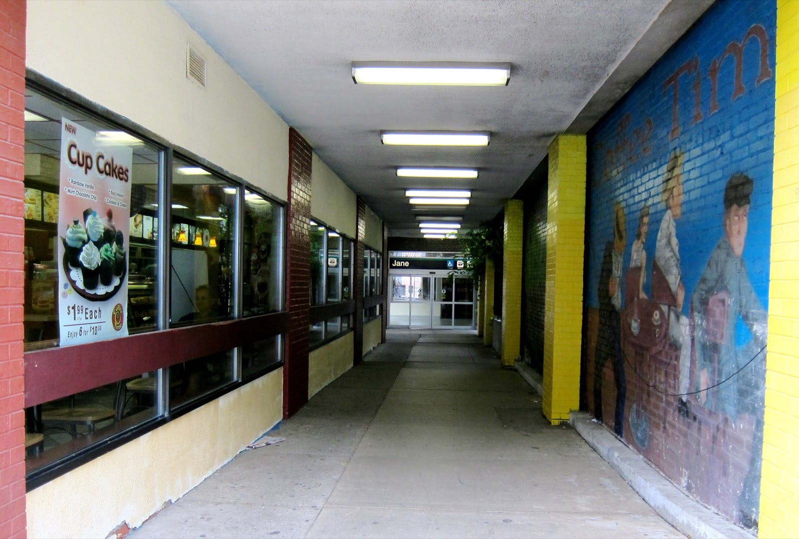 Jane station walkway entrance from Bloor St.