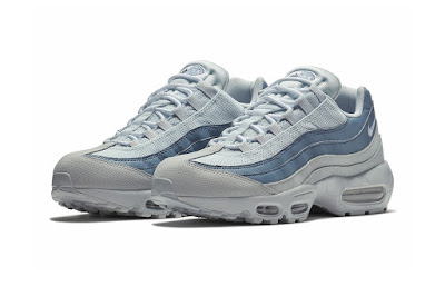 1c09aea24807ee Nike s Air Max 95 continues its blue streak with a new monochrome colorway  that opts for lighter shades. This version of the retro runner boasts a  nylon
