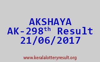 AKSHAYA Lottery AK 298 Results 21-6-2017