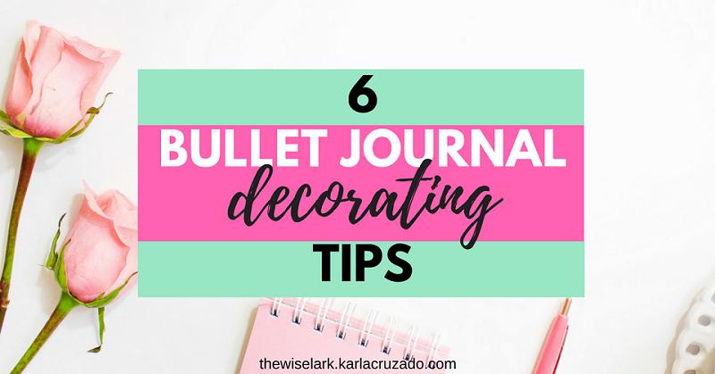 Top Bullet Journal Decorating Tips