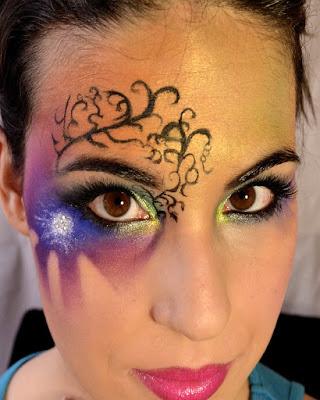 maquillaje de fantasia gitana