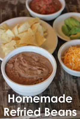 Slow Cooked Homemade Refried Beans from Lynn's Kitchen Adventures featured on Slow Cooker From Scratch.com
