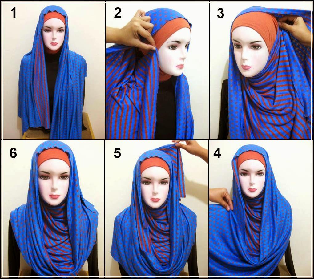 Tutorial Hijab Segi Empat Paling Mudah Tutorial Hijab Paling