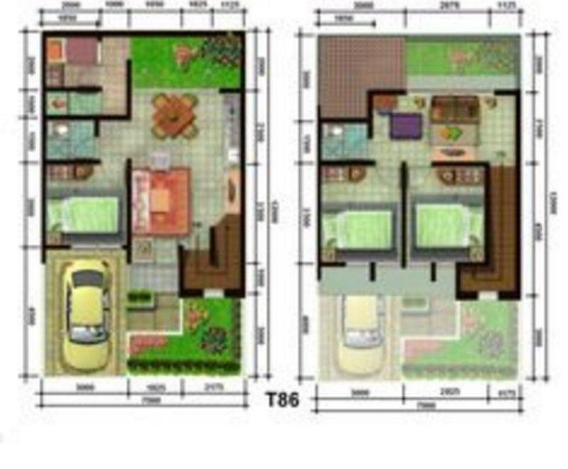 denah rumah minimalis 7x9 1 lantai yg terkini