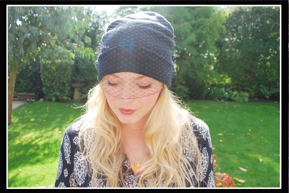 5f16a15d5f4 Fashion Finds  DIY Jil Sander Veiled Beanie