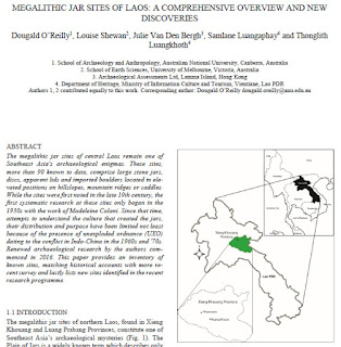Megalithic Jar Sites of Laos:  A Comprehensive Overview and New Discoveries
