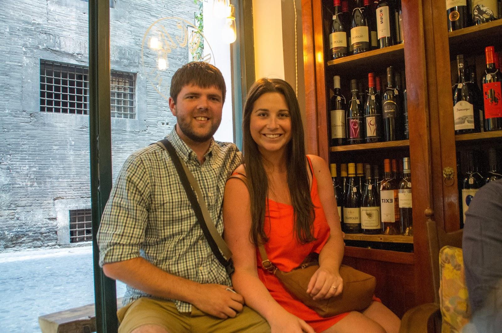 Simone and Dan on Secret Food Tour Rome