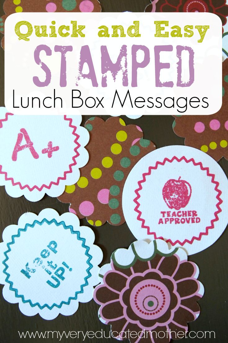Make Quick and Easy Stamped Lunch Box Messages with PSA Essentials stamper!