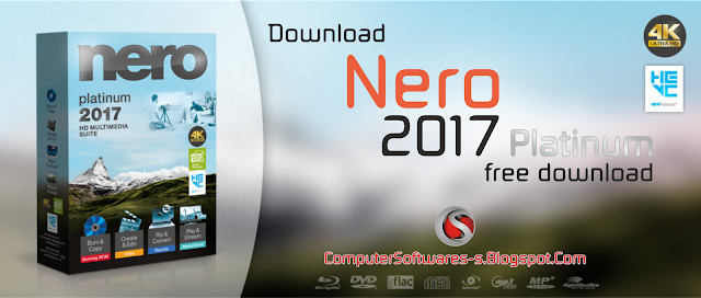Nero 2017 Platinum v18 with Crack Full Version Free Download | Computer Software