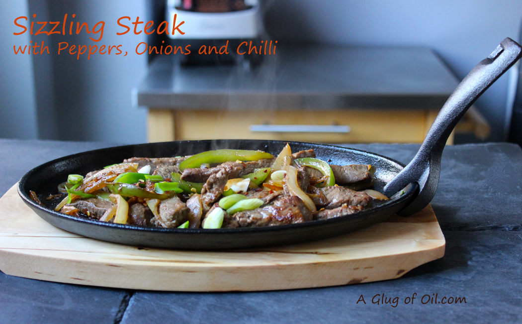 Sizzling Steak with Peppers