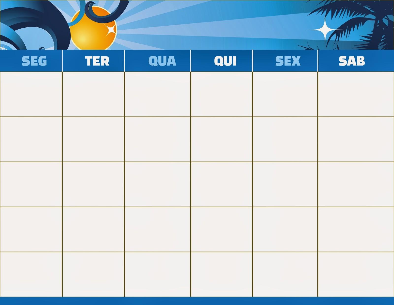 Bau Da Web Calendario Semanal Para Imprimir