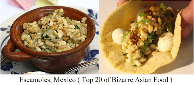 Escamoles, Mexico- top 20 of bizarre asian food