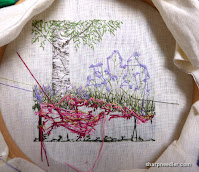Under the Silver Birch (designed by Jo Butcher): the mess on back the