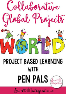 Collaborative Global Projects for kids are a great way to help students write more while learning about those from other cultures around the world. Try this great site! A variety of skills can be integrated into the projects, plus teachers have access to everything. So it's a safe way for students to learn online skills in an everchanging world. Click through for more details and to learn more about this innovative technology PBL option. {second, third, fourth, fifth, sixth grade}
