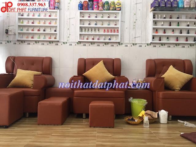ghế làm nail, ghế nail, ghế nail giá rẻ, ghế sofa nail, mẫu ghế nail, mẫu ghế nail đẹp, thiết kế tiệm nail,