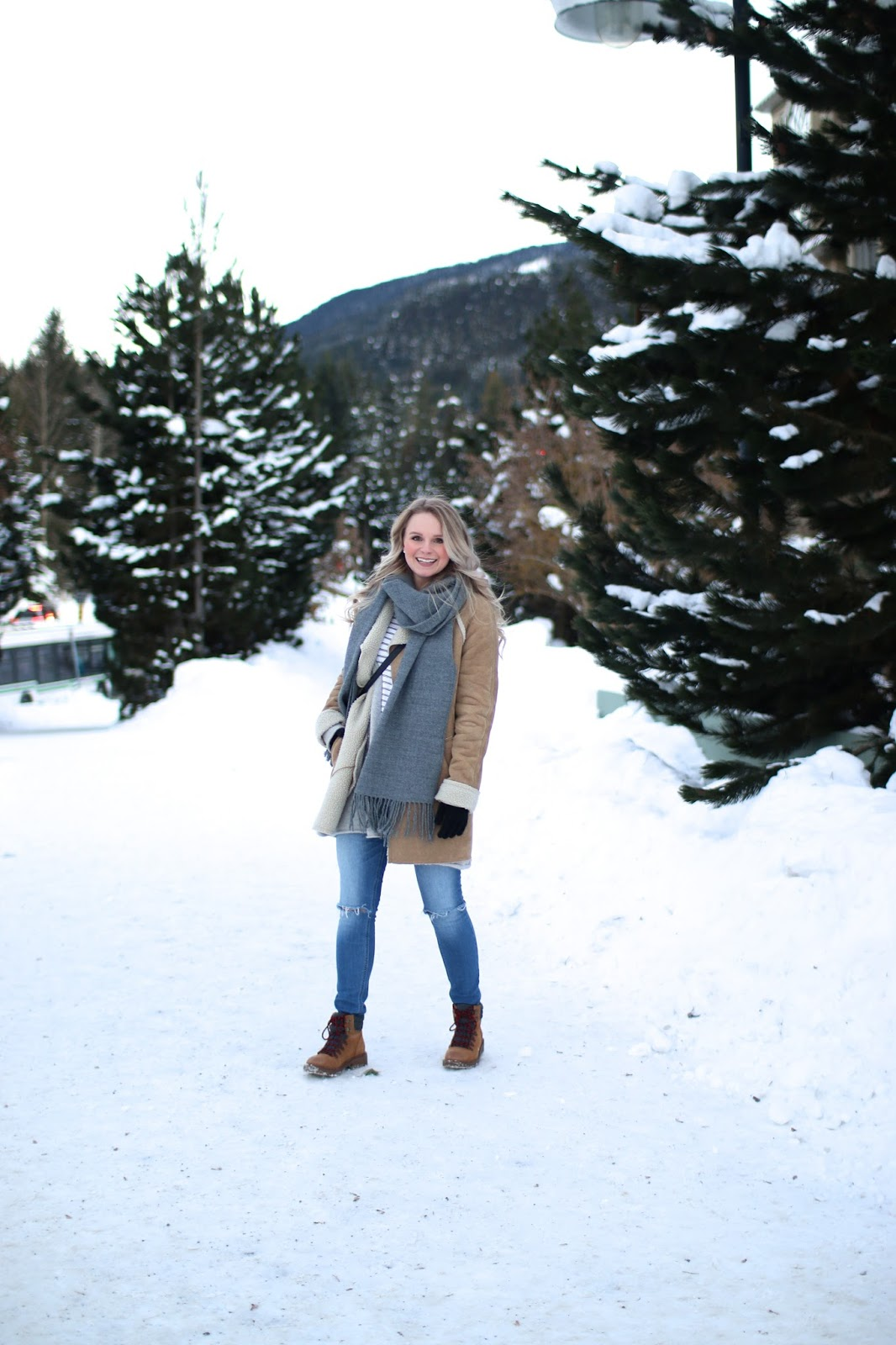 stomping around whistler village
