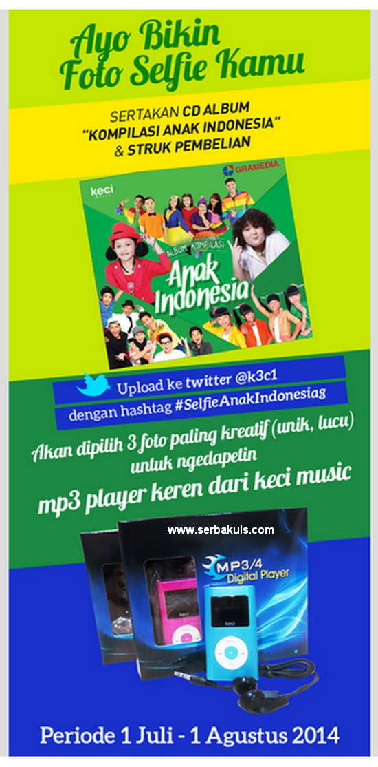 Kontes Selfie Berhadiah 3 MP3 Digital Player