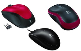 Logitech Wired Mouse B100 for Rs.241 | Logitech Wireless Mouse M235 for Rs.467 Only @ Nearbuy