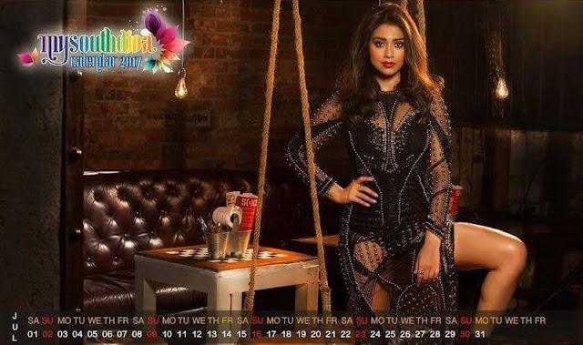Shriya saran in My South Diva Calender 2017 Photoshoo