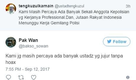 Tengku Zulkarnain Tunggu Kerja Polisi Ungkap Pembully Ulama dan Tokoh-Tokoh Islam, Ini Kata Netizen