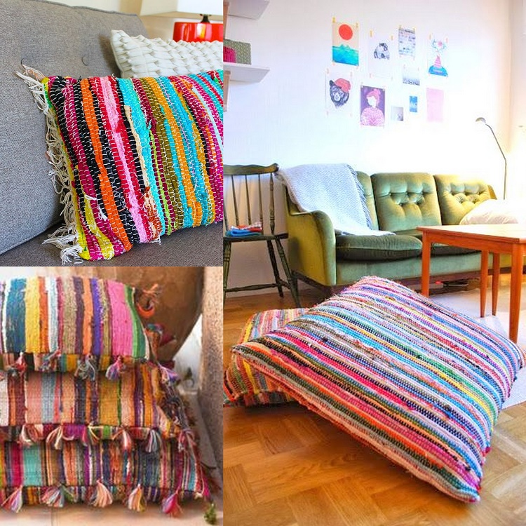 Rag Rug Pillow DIYS